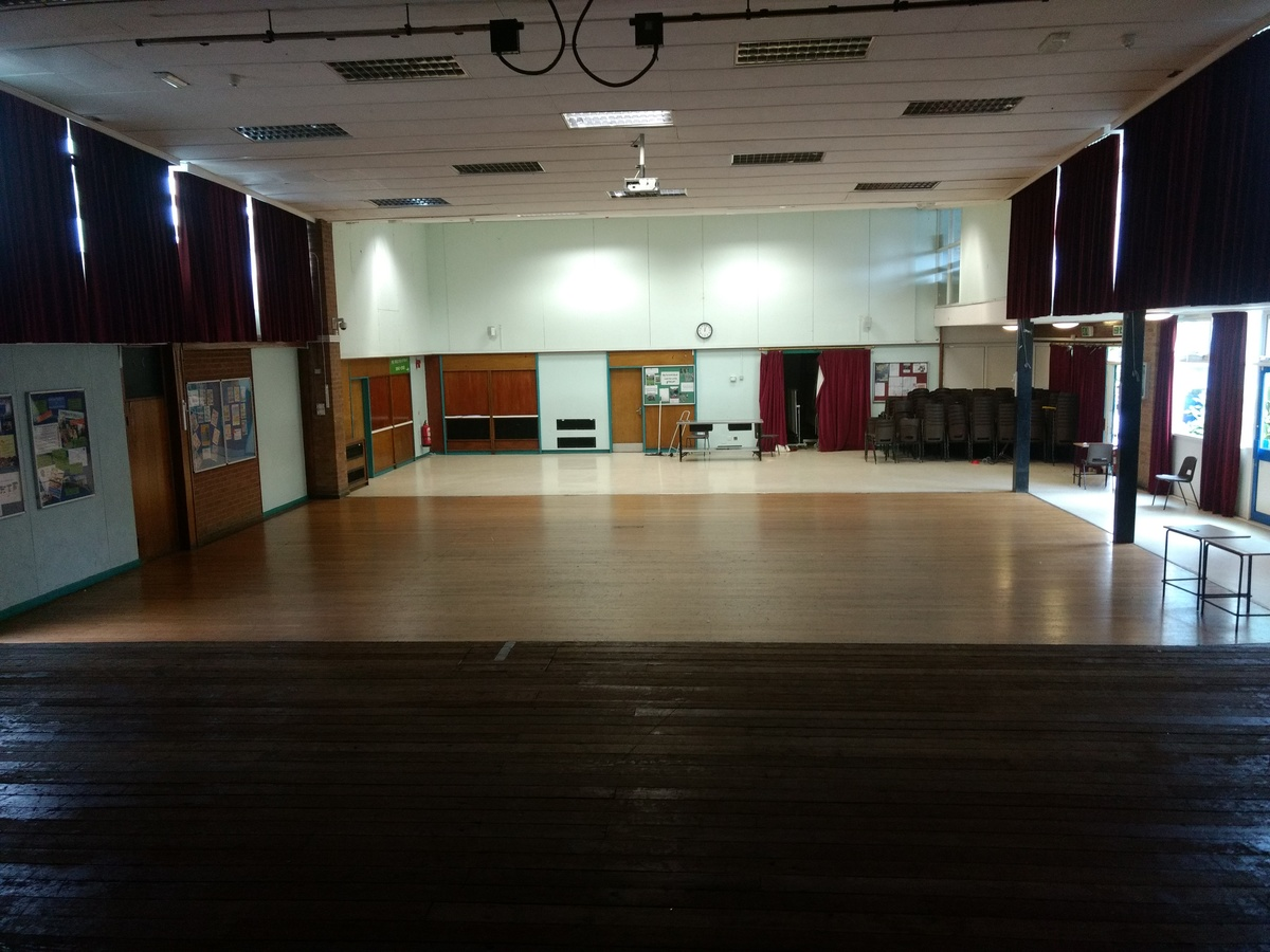 Main Hall At Kenilworth School And Sixth Form For Hire In