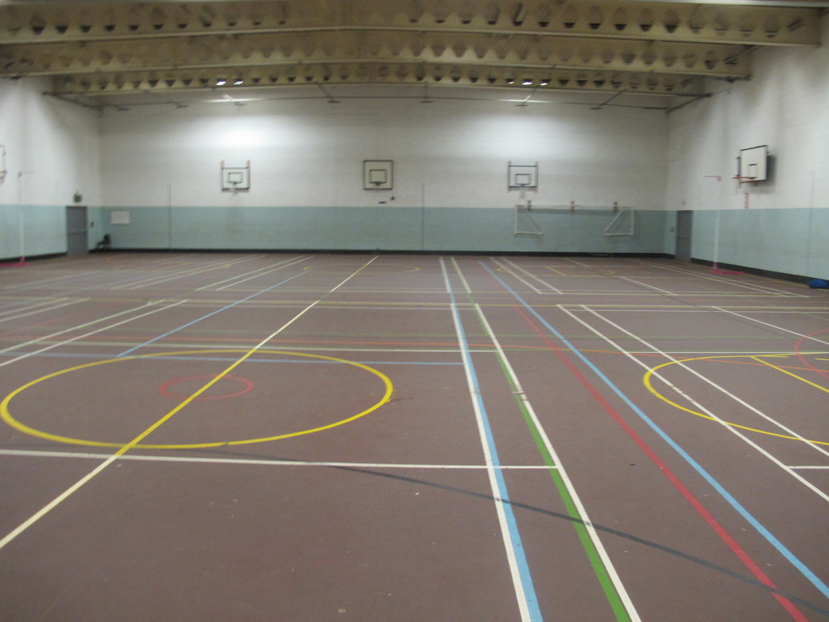 Sports Hall At The Catholic High School For Hire In