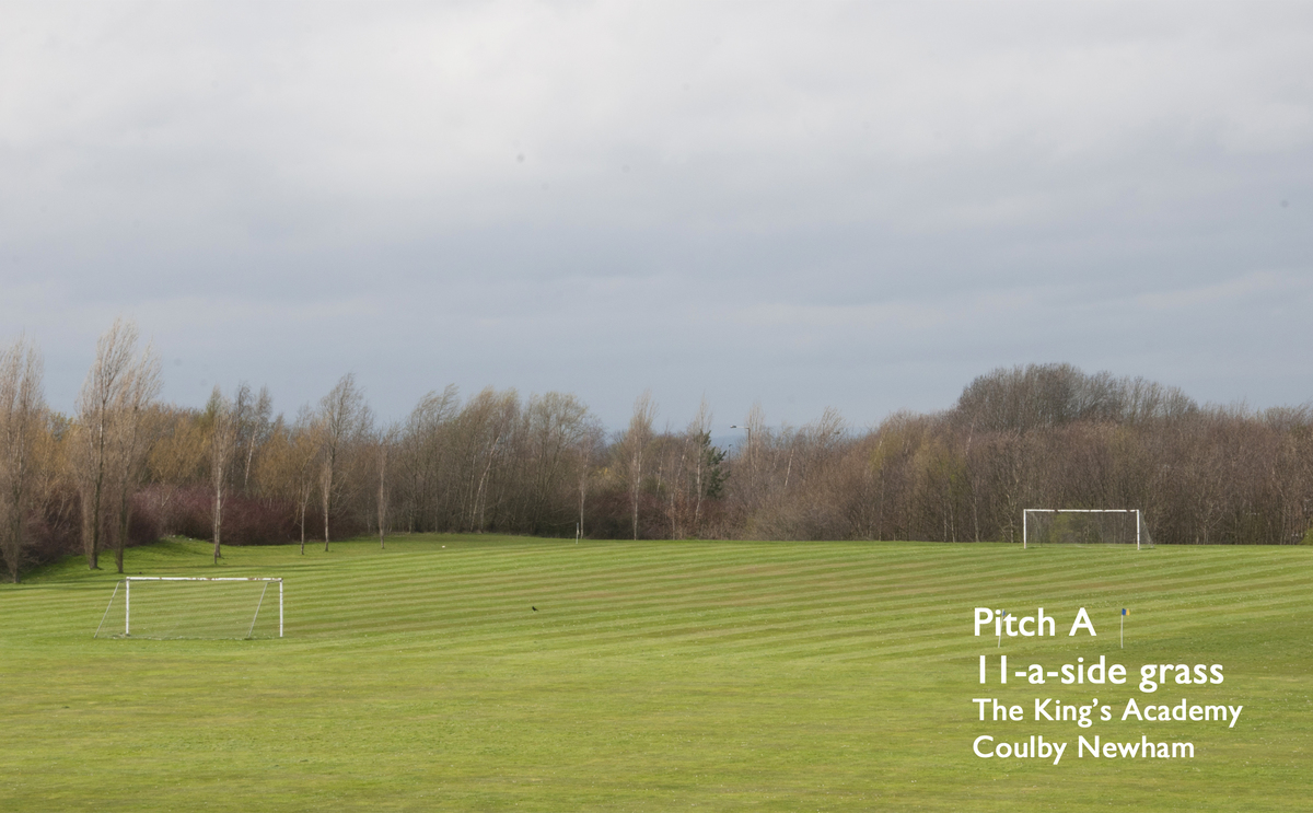 11-a-side Grass Football Pitch (Pitch A) - The King's Academy - Middlesbrough - 1 - SchoolHire