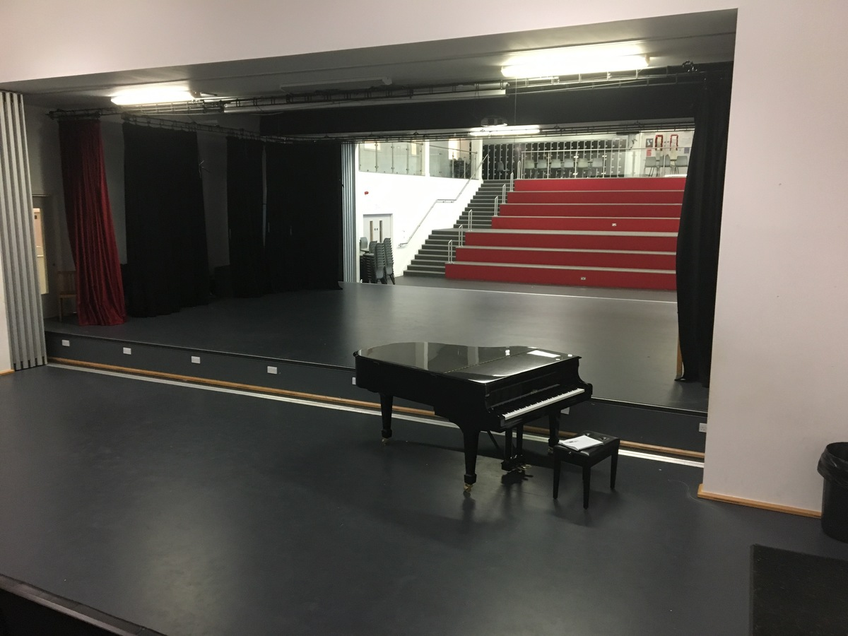 Theatre 2  with fully opened stage (both sides) and additional 'Heart Space' seating  - Birkenhead High School Academy - Wirral - 1 - SchoolHire