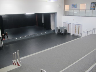 Theatre 2  with fully opened stage (both sides) and additional 'Heart Space' seating  - Birkenhead High School Academy - Wirral - 2 - SchoolHire