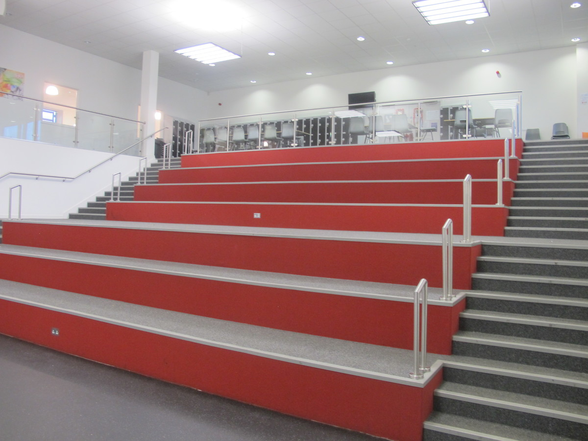 Theatre 2  with fully opened stage (both sides) and additional 'Heart Space' seating  - Birkenhead High School Academy - Wirral - 3 - SchoolHire