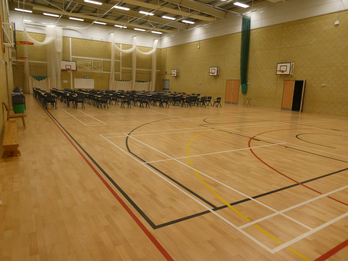 Sports Hall (main hall) - Cromwell Community College - Cambridgeshire - 1 - SchoolHire
