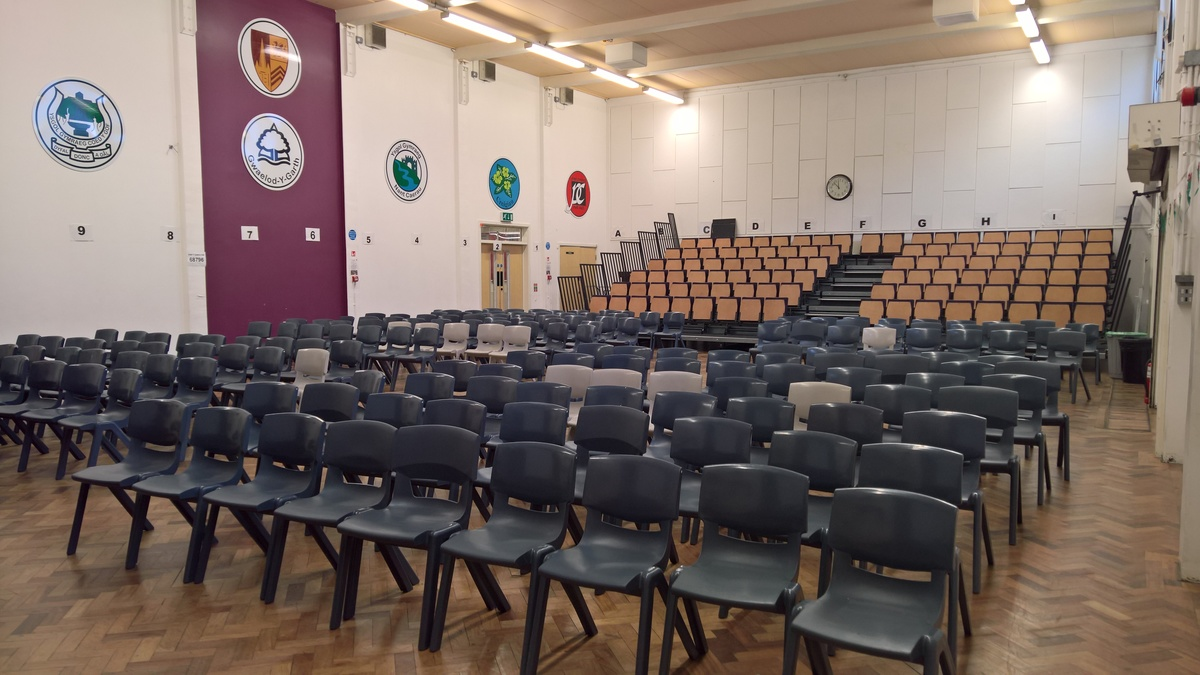 Prif Neuadd / Main Hall - Ysgol Gyfun Gymraeg Plasmawr - Cardiff - 1 - SchoolHire