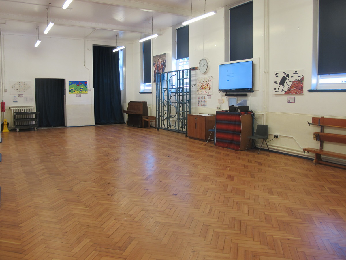Main Hall At James Wolfe Primary School With Centre For