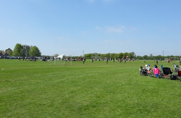 Small grass pitches in use