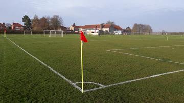 Small grass pitch set up2