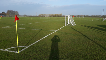 Small grass pitch set up