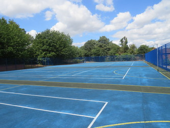 MUGA - Netball & Tennis - The Warwick School - Surrey - 1 - SchoolHire